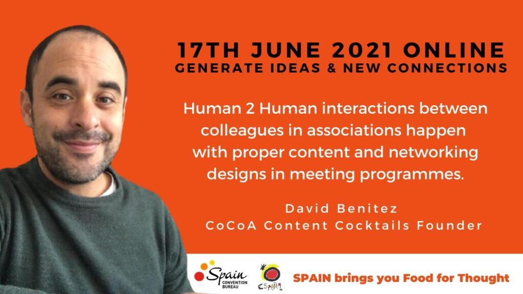 David Benitez - CoCoA Content Cocktails Founder Spain Bbarcelona event designer