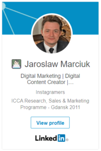 jaroslaw marciuk linkedin socialmedia networking personal branding