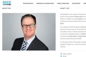 Rob Davidson MICE Knowledge eventprofs meetingplanner visiting scholar
